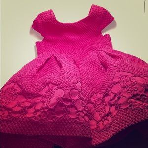 Janie and Jack hot pink color dress size 2
